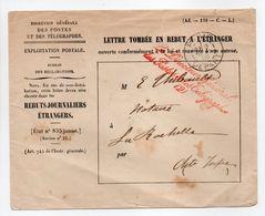 - LETTRE TOMBÉE EN REBUT A L'ÉTRANGER, PARIS Pour LA ROCHELLE 8 MAI 1895 - - Postmark Collection (Covers)