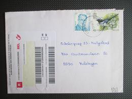 2963 - Albert II Broux - Op Aangetekende Brief Beernem Naar Maldegem - Belgium