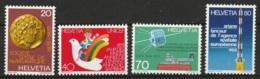 Suisse, Helvetia 1979 Yvert 1092/1095 ** MNH - Svizzera