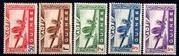 GUINEE (Colonie Française) - 1942 - P.A. - N° 10 à 14 - (Légende : GUINEE) - Nuovi