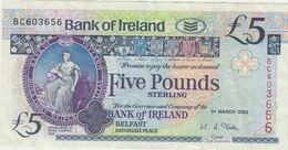 IRLANDA DEL NORD 5 POUNDS 2003 - Irlanda