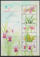SINGAPORE, 2020, MNH, FLOWERS, ORCHIDS, SHEETLET 5v+TABS - Orchideen