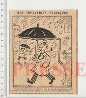 Presse 1942 Format 14 X 11 Cm Humour Couverture Zinguerie Gouttière Invention Parapluie CHV40 - Vieux Papiers