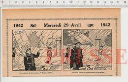 2 Vues Humour Pébroc Petits Métiers Homme-sandwich Publicité P. Brock & Cie Parapluie  231B - Vieux Papiers