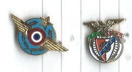 Médailles Militaires Lot 2 Pins - Militair & Leger