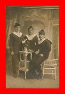 -- Carte Photo Marins Du Leon Gambetta 1914 Photographe Meunier TOULON(scan Recto Verso) Correspondance Nantes - Toulon