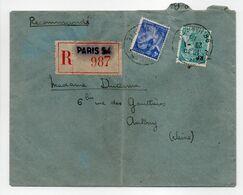 - Lettre Recommandée PARIS Pour ANTONY (Seine) 29.1.1945 - Bel Affranchissement Philatélique - - France