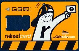 GIBRALTAR GIBTELECOM GSM (SIM) CARD USED WITHOUT CHIP MODULE - Gibraltar
