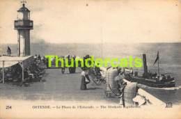 CPA OOSTENDE OSTENDE LE PHARE DE L'ESTACADE - Oostende