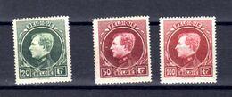 Belgique 1929, Grand Montenez, 290 A – 290 C -292 A*, Cote 260 €, - 1929-1941 Grand Montenez