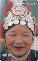 Schweiz  Phonecard   Global One Thailand Old Lady - Svizzera