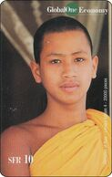 Schweiz  Phonecard   Global One Thailand Budh. Mönch - Svizzera