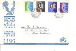 Tanganyika Et Zanzibar ( FDC De 1964 à Voir) - Tanganyika (...-1932)