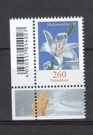 Deutschland BRD **  3207  Blumen Madonnenlilie Eckrand - Nuevos