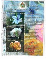 SAN MARINO 2011 - FIORI DELLA REPUBBLICA - FOGLIETTO USATO SU FRAMMENTO - Saint-Marin