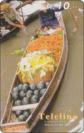 Schweiz  Phonecard Teleline Thailand Floating Market BKK - Svizzera