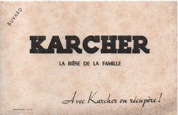 Buvard Ancien / KARCHER/La Biére De La Famille / Avec Karcher On Récupére/ Lutétia/ Vers 1950                   BUV451 - Liquor & Beer