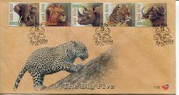 South Africa Südafrika Offizieller/official FDC # 7.12 - Fauna Big 5 - FDC