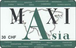 Schweiz  Phonecard Maxi Asia - Svizzera