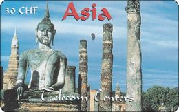 Schweiz  Phonecard Telecom Centers Tempel Ruin Ayutthaya - Svizzera