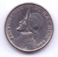 PANAMA 2001: 1/4 Balboa, KM 128 - Panama