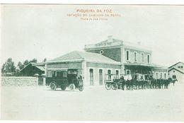 PORTUGAL-POSTCARDS--TEMA--(ESTAÇOES C. FERRO)--COIMBRA--FIGUEIRA DA FOZ-- ESTAÇÃO CAMINHO DE FERRO - Coimbra