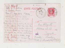 FRANCE PARIS 1943 Censored Postal Stationery To Croatia - Francia