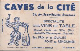 Buvard Ancien / Vins De Table /CAVES De La CITE/ Spécialité Des Vins De Table/SURESNES/ Vers 1950                BUV453 - V