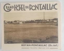 ROYAN - GRAND HOTEL De PONTAILLAC - C.1930 - Reclame