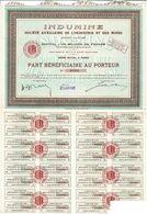 Titre Ancien - Indumine -Société Auxiliaire De L'Industrie Et Des Mines - Société Anonyme -Titre De 1926 - Mines