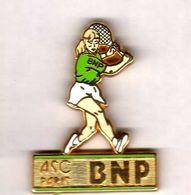 Pin's ASC BNP Tennis Femme Zamac  Ballard - Bancos