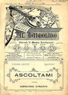 ANCIENNES PARTITIONS DE MUSIQUE -  IL MANDOLINO : GIORNALE DI MUSICA QUINDICINALE - Ascoltami - Année 1925 - Musique