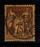 Sage YV 99 Oblitere Pas Aminci TTB Cote 50 Euros - 1876-1898 Sage (Tipo II)