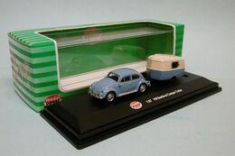 Model Power - VW VOLKSWAGEN BEETLE COX + CARAVANE Bleu Et Crème Réf. 19660 HO 1/87 - Road Vehicles