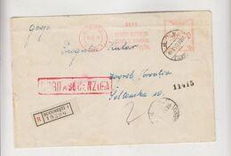 ROMANIA 1943 BUCURESTI Registered Censored Cover To Croatia - Storia Postale Seconda Guerra Mondiale