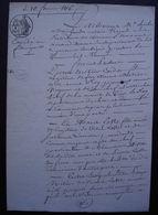 Tonneins 1816 Lot-et-Garonne Mariage Entre Pierre Métier, Cordier Et Marie Lotte Aînée - Manuscrits