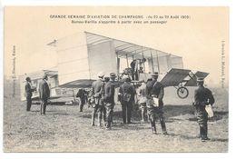 Cpa..Reims..semaine D'aviation De Champagne (du 22 Au 29 Aout 1909).Bunau-Varilla Pret A Partir Avec Un Passager..animée - Aviateurs