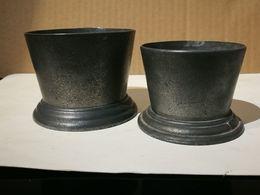 2 Gobelets Ancien En étain - Etains