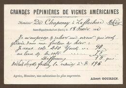 RARE- Carte Précurseur 1882 -Saint Hippolyte Du Fort - Grandes Pépiniéres De Vignes Américaines- Jamais Vue Sur Delcampe - Otros Municipios