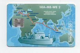 """Télécarte """" SEA-ME-We 2"""" - Schiffe"""