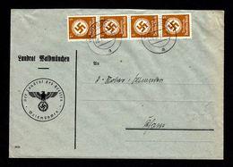 DR Brief Dienst - Mi. D132 WALDMÜNCHEN - Cham - 28.2.41 In MeF - Dienstpost