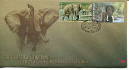 South Africa Südafrika Offizieller/official FDC # 7.64 - Fauna Elephants - FDC