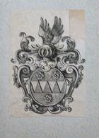 Ex-libris Héraldique XVIIIème - BELGIQUE - BALTIN (Bruges) - Ex Libris