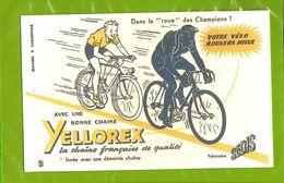 BUVARD : La Chaine YELLOREX  Pour Le Velo  La Roue Des Champions - Bikes & Mopeds