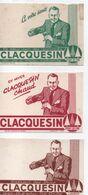 3  Petits Buvards Anciens  /CLACQUESIN/ Extrait Des Pins/Sec Ou à L'eau Ordinaire/Godefroid-Paris/ Vers 1950    BUV455 - Liquor & Beer
