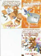 LYON. CPM. Lot 3 Cartes. Salon Du Jouet 2000. - Collector Fairs & Bourses