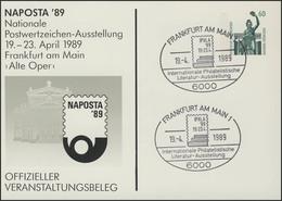 PP 151/85 NAPOSTA'89 Frankfurt/Main Alte Oper, SSt IPHLA 19.4.1989 - BRD