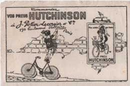 Buvard Ancien/Pneus HUTCHINSON/Potier Lecorsier Et Cie/Plus Solide Que L'Acier/Paris/ Vers 1930-1950            BUV456 - Bikes & Mopeds