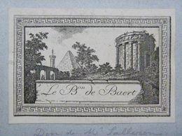 Ex-libris Illustré XVIIIème - BELGIQUE - LE BARON DE BAERT - Ex Libris