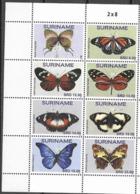 SURINAME, 2020, MNH, BUTTERFLIES, 8v - Schmetterlinge